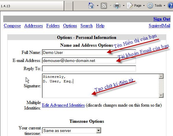 Huong dan su dung Webmail trong Cpanel